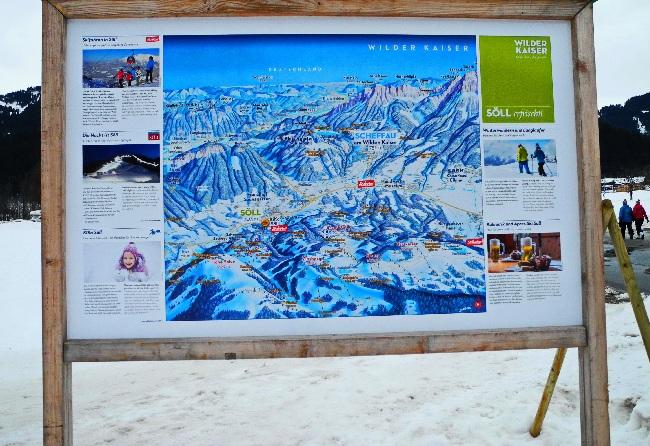 Tafel SkiWelt Wilder Kaiser