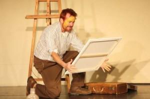Van Gogh Hauser mit Gemälde