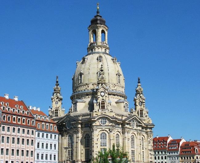 Dresden, Frauenkirche und rekonstruierter Neumarkt