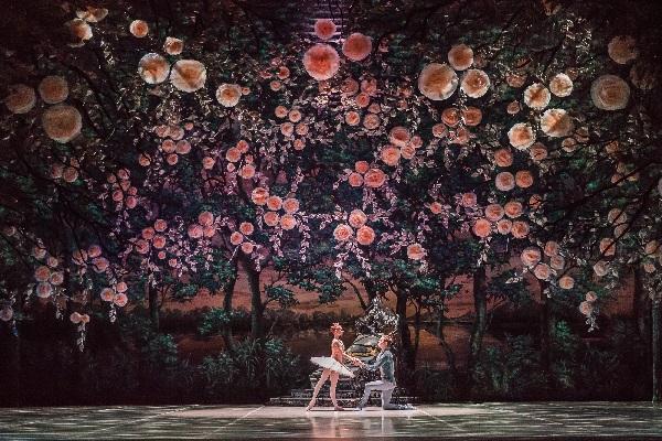 Jana Salenko und Leonid Sarafanov im Rosenregen, Foto Yan Revazov