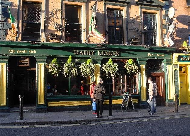 Hairy Lemon Pub morgens, Stephen Street Lower