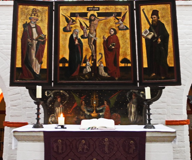 Kreuzigungsretabel auf dem ehem. Laienaltar, um 1470