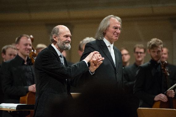 Arvo Pärt und Tönu Kaljuste, Foto Foto Raigo PajulaVabariigi Presidendi Kantselei