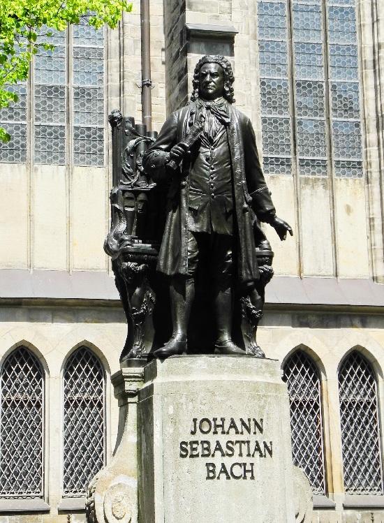 Bach in Bronze vor der Thomaskirche, Foto Ursula Wiegand