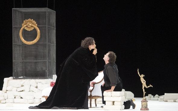 Camilla Nylund (Ariadne), Roberto Saccà (Bacchus), Foto Monika Rittershaus