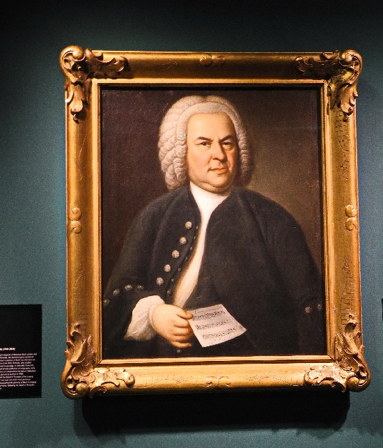 Haußmanns Bachporträt von 1748 zurück in Leipzig. Foto Ursula Wiegand