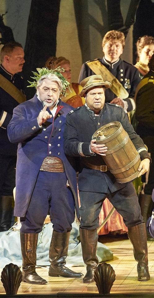 David Daniels als Trinculo,mit seinem Bühnenpartner