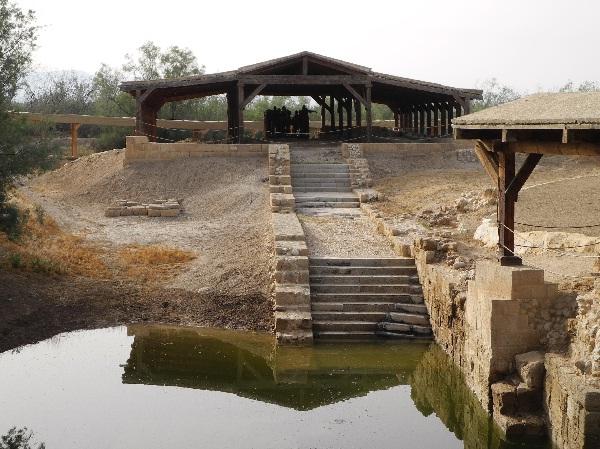 00Taufstelle Jesu am Jordan mit einigen Ausgrabungen