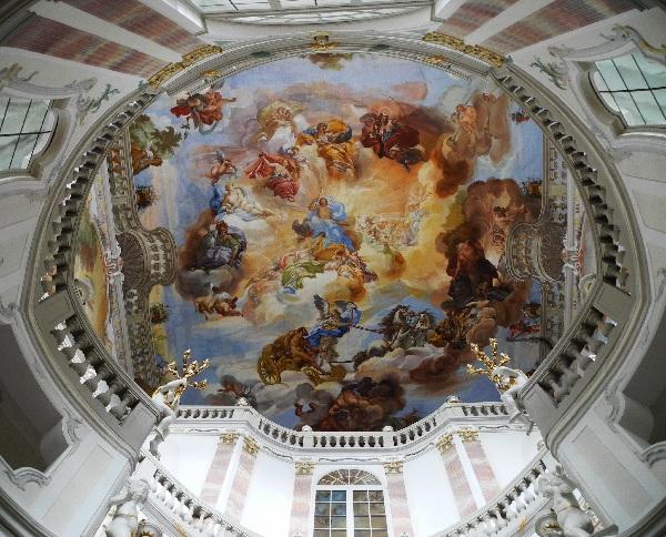 Bad Wurzach, Schloss, barockes Treppenhaus