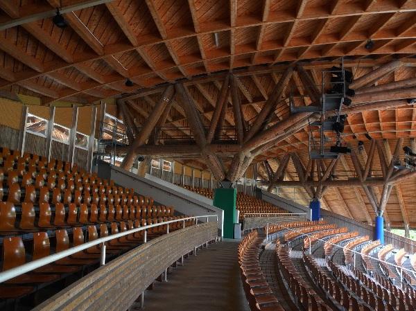 Freilichtbühne Altusried, sehenswerte Holzkonstruktion