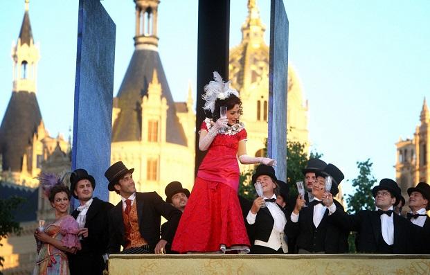 Herrera auf dem Fest des ersten Aktes Foto: Silke