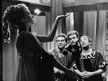 MargarethMargaretha Meyerson als Galathea mit Olav Gerthel als Mydas, Lars Ekman als Ganymed und Karl-Gustaf Lindström als  Pygmalion.