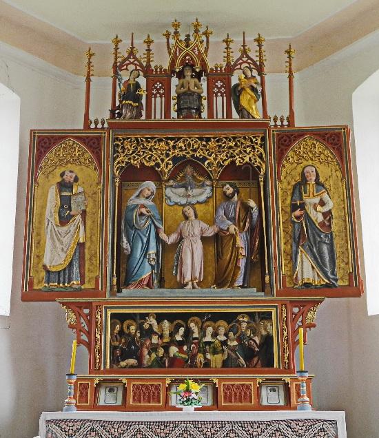 Vitus-Kapelle in Grünenbach, spätgotisch, Altar