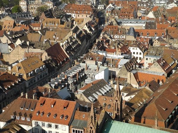 Blick auf Straßburgs Altstadt