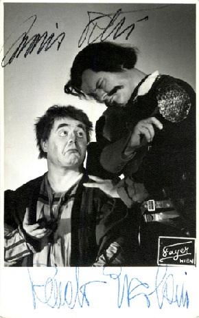 Renato ERCOLANI und Mario PETRI in Falstaff in Salzburg