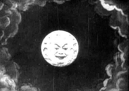 Mondszene aus dem Stummfilm von Georges Mélièrs aus 1902
