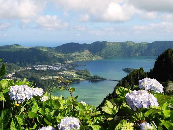 São Miguel, Königsblick auf Lagoa Verde und Lagoa Azul, 2