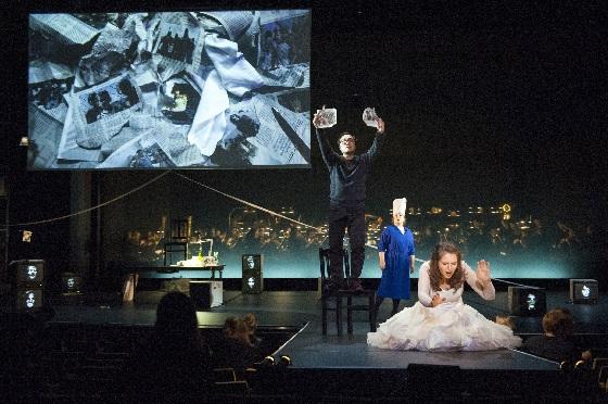 Tatiana Serjan (Aida), Alfred Kim (Radames), Anna Smirnova )Amneris), Foto Marcus Lieberenz