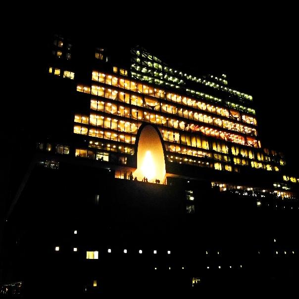 Elbphilharmonie nachts nach dem Konzert, Foto Ursula Wiegand