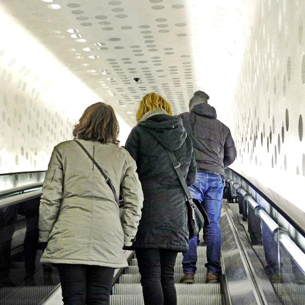 aufwärts mit der 82 m langen Tube, Foto Ursula Wiegand