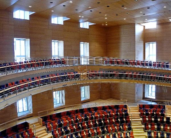 Pierre Boulez Saal, entworfen von Frank Gehry, Ausschnitt, b