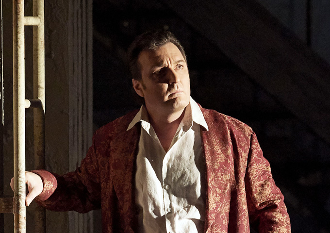 'Il trovatore', 1. Akt: Ludovic Tézier als Conte di Luna © Wiener Staatsoper/Michael Pöhn