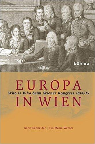 BuchCover  Europa in Wien, Who is who Wr. Kongress