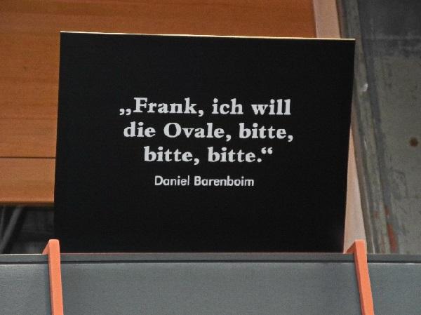Daniel Barenboims Bitte an Frank Gehry