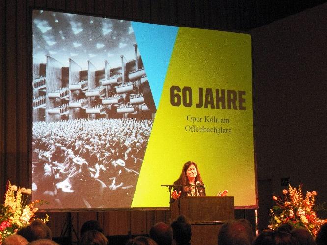 Festakt 60 Jahre Kölner Oper Festrede der Intendantin Dr. Birgit Meyer Foto Andrea Matzker IMG_0795
