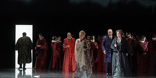 Szene im 3.Akt, Otello im Abgang