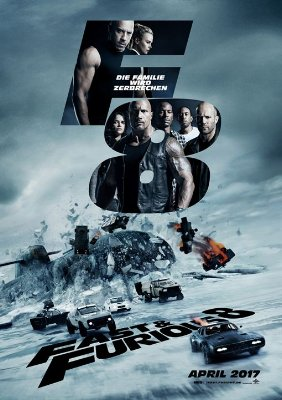 Film Poster Fast 4 Furious 8~1