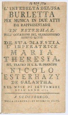 L'infedelta deusa Burletta_(Marco Coltellini, Joseph Haydn)_16950-Tb_Titelblatt_scan~1
