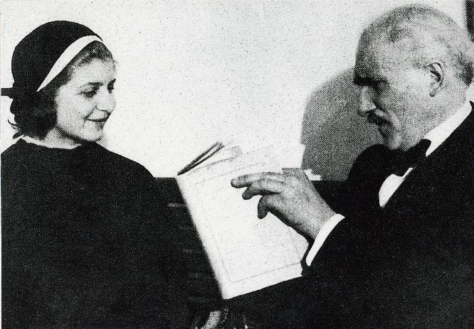 Wallmann und Toscanini ca. 1936