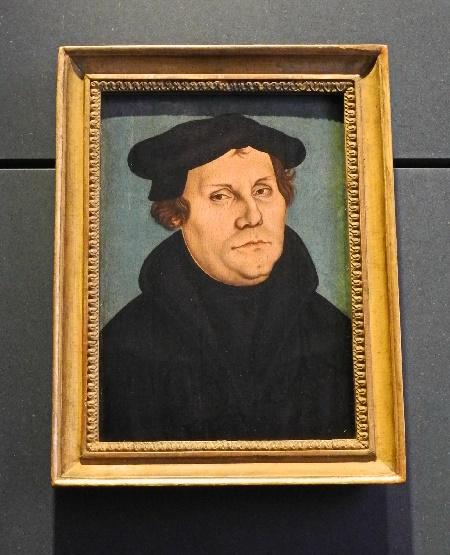 Martin Luther, gemalt 1528 von Lucas Cranach d.Ä., Foto Ursula Wiegand