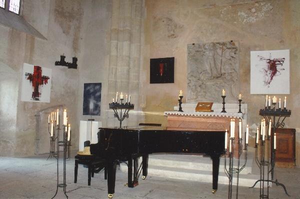 Hardegg 24. Juni 2017 Ausstellung Kreuze in der Burgkapelle
