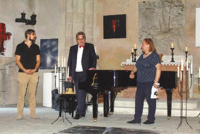 Hardegg 24. Juni 2017 Francesca Pilati, Robert Pobitschka und Oktavian Pilati v.l. bei der Begrüßung