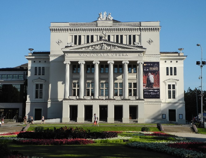 1Riga, die Lettische Nationaloper, neoklassisch., Foto Ursula Wiegand