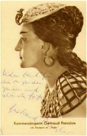 Gertraud Prenzlow als Amneris