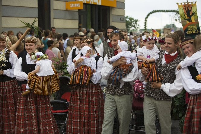 Lettland, Gesangs- und Tanz-Festival, Foto Imants Urtāns