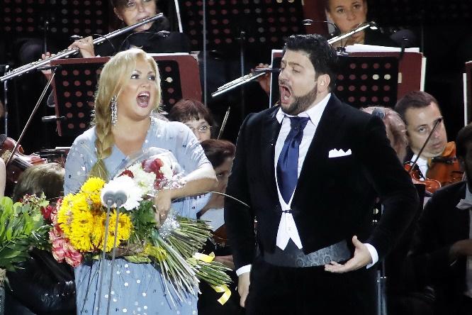 Anna Netrebko und Yusif Eyvazov im Duett, © DAVIDS