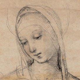Madonn Kopf Zeichnung 1