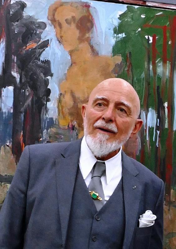 Markus Lüpertz bei der Eröffnung seiner Ausstellung Foto Andrea Matzker