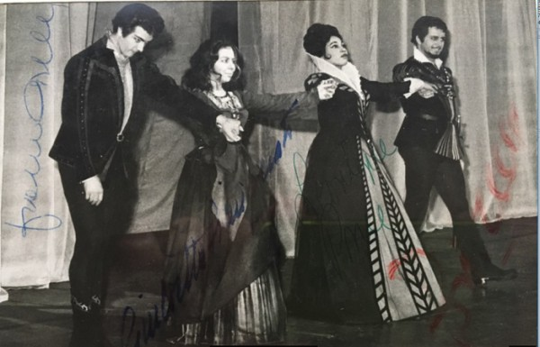 IL TROVATORE : Franco Corelli, Giulietta Simionato, Leontyne Price und Ettore Bastianini 1962 bei den Salzburger Festspielen