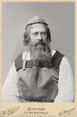 Eugen Gura als Hans Sachs in Bayreuth