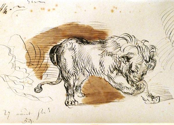 Der Löwe von Eugène Delacroix aus dem Jahr 1859 Foto Andrea Matzker P3720615
