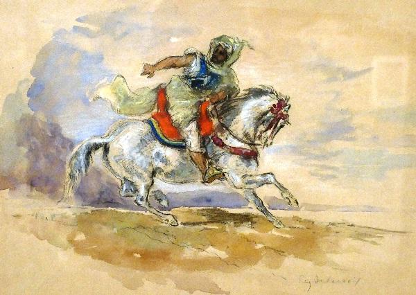 Der Orientalische Reiter von Eugène Delacroix  Foto Andrea Matzker P3720615