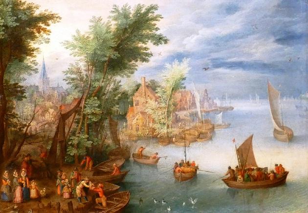 Flusslandschaft von Jan Brueghel dem Jüngeren Foto Andrea Matzker P3720578