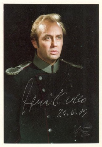 René Kollo als Hermann in Pique Dame an der Wiener Staatsoper