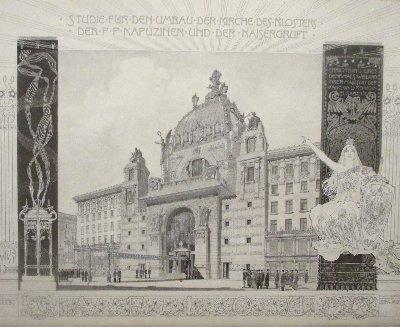 Architekturzeichnung Wagner Kapuzinergruft~1