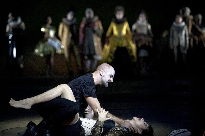 Poppea, Max Emanuel Cencic (Nerone), Anna Prohaska (Poppea), Foto Bernd Uhlig